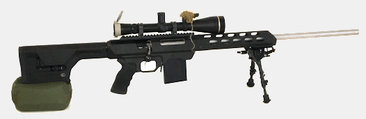 Compact Large Sniper Bean Bag Rear Rest and MDT Chassis