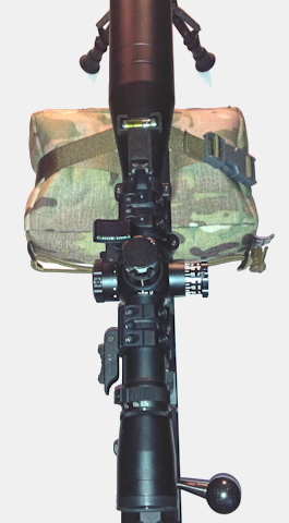 TAB GEAR Str8Laced Bag and CTS Webbing System attached to a rifle